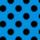 Azul pavo lunares negro